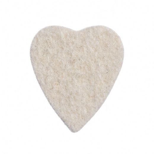 Felt Tones Heart Natural Wool Felt 1 Pick